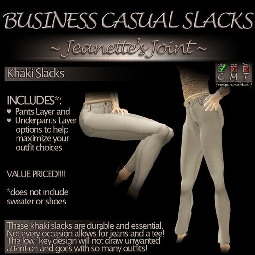 ~JJ~ Business Casual Slacks