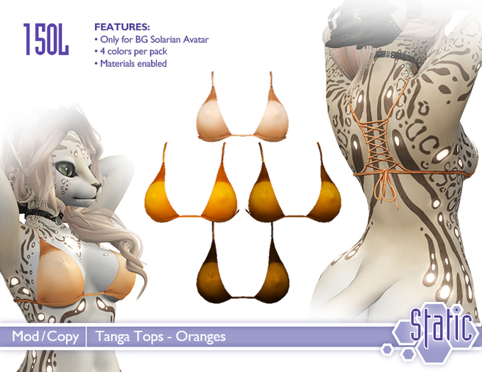 ::Static:: Tanga Tops - Oranges