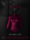Ec.cloth - Velvet Body - Burgundy (add it)