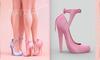 [BREATHE]-Nozomi Heels-Rose Pink-(for Slink High Feet & Maitreya Lara & Belleza)