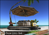 HeadHunter's Island - Tiki Palm Grill Bar v1.2- bar stools/hanging bench/food&drink givers-decor - 52+ animations - MESH