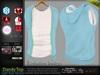 Dandy Light Blue Male Mens Top t shirt with Vest Jacket - Mesh - TMP, Adam, Slink, Signature, Belleza Jake -FashionNatic