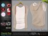 Dandy Beige Male Mens Top t shirt with Vest Jacket - Mesh - TMP, Adam, Slink, Signature, Belleza Jake - FashionNatic