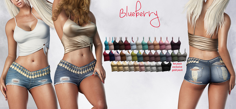 Blueberry - Kiki Tops - Maitreya, Belleza (All), Slink Physique Hourglass - ( Mesh ) - Fat Pack