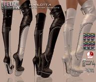 .:-->> YELIZ <<--:.  *KARLOTTA* Leather Overknee high Boots - MEGA-HUD -