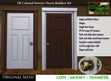 ER Colonial Interior Door Builder Kit - Mesh Door with Hinges and Frame