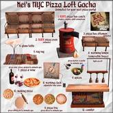 3. Kei's NYC Pizza Loft Gacha (ottoman)