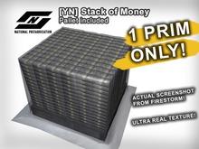 ![YN] Pile of Money on Pallet, 1 PRIM HD Mesh Bundled Cash