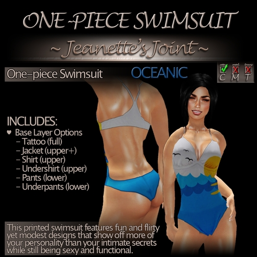 ~JJ~ One-piece Swimsuit (Oceanic)