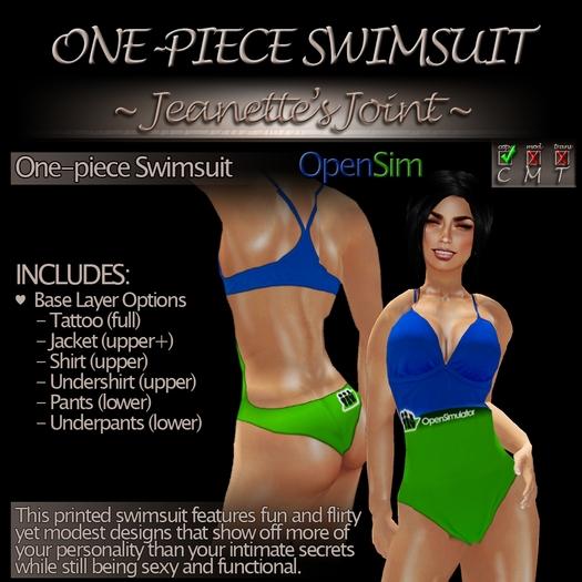 ~JJ~ One-piece Swimsuit (OpenSim)