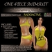 ~JJ~ One-piece Swimsuit (Radioactive)