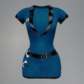 Blue Police Officer Mesh Dress box