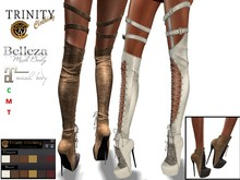 Trinity - Elven Boots - Shoes w/Texture Hud (Maitreya-Lara/Belleza-Venus-Isis-Freya/Slink-Physique-Hourglass)