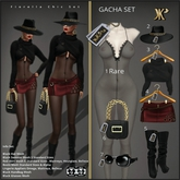 7 - YK Fiorella Glasses Big Black Tacks(Wear & Touch)
