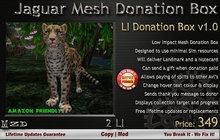 Jaguar - Low Impact Mesh Donation Box