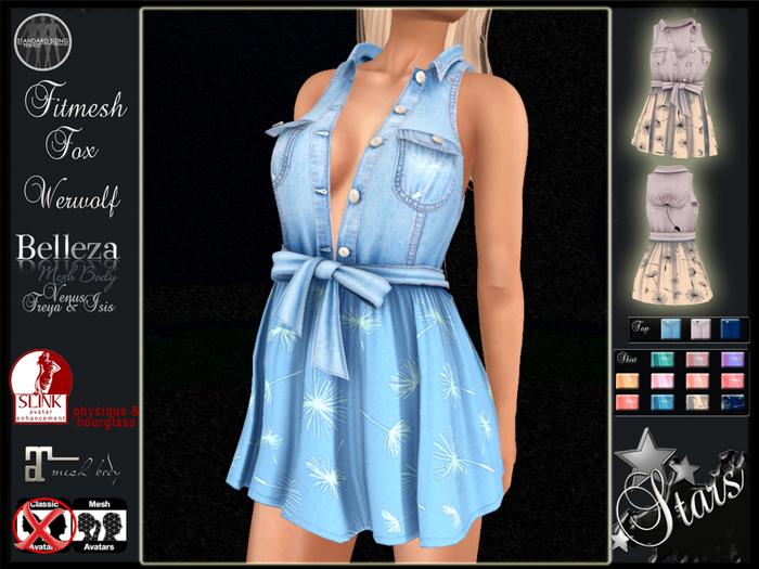 Stars - Maitreya, Slink, Belleza - Nikki fitmesh outfit