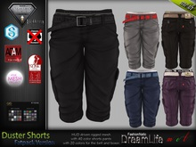 Duster Male Mens Fatpack Shorts  Jeans Pants -Mesh - TMP, Adam, Slink, Aesthetic, Signature ,Belleza Jake - FashionNatic