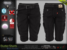 Duster Male Mens Black Shorts Jeans Pants - Mesh - TMP, Adam, Slink, Aesthetic, Signature, Belleza Jake - FashionNatic