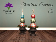 Thistle Homes - Christmas Topiary - Red & Blue - original mesh