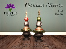 Thistle Christmas Topiary - Red & Green (wear)