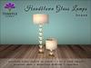 Thistle Homes - Handblown Glass Lamps - Brass - original mesh