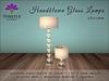 Thistle Homes - Handblown Glass Lamps - Chrome - original mesh