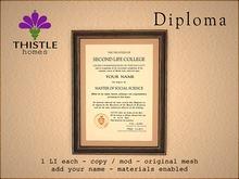 Thistle Homes - Diploma Social Science - original mesh