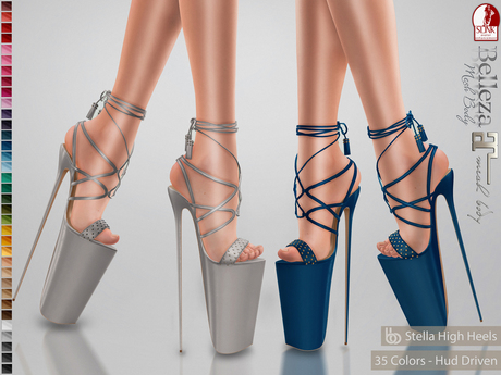 Bens Boutique - Stella High Heels - Hud Driven Maitreya,Slink(all),Belleza(all)