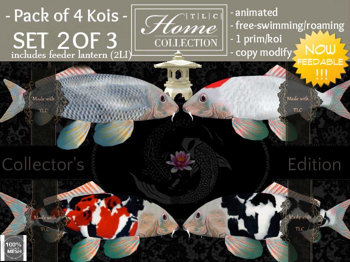 Koi, feedable, Collector Set 2 of 3