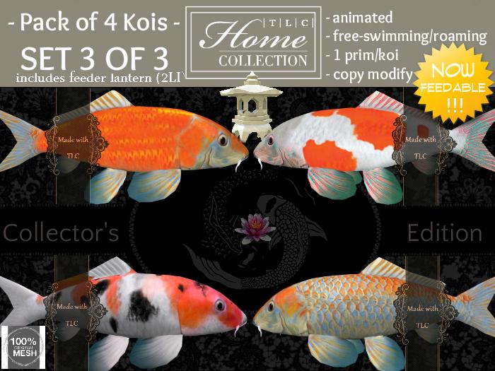 Koi, feedable, Collector Set 3 of 3