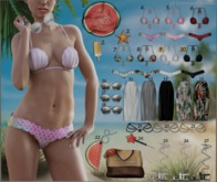 #EMPIRE - Beach Day - Bikini - White - RARE
