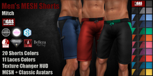 GAS [Men's MESH Shorts Mitch - 20x11 Colors with HUD]