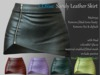 CLBlue-Sandy Leather Skirt