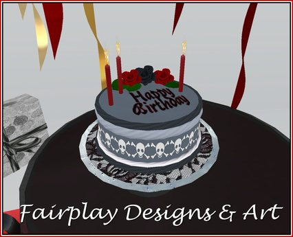 Incredible Second Life Marketplace Fda Goth Corpse Birthday Cake Birthday Cards Printable Benkemecafe Filternl