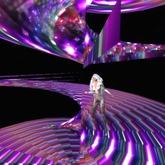 PARTICLE MAGIC PURPLE TWIRL LARGE ~ WEARABLE LIGHT EFFECT