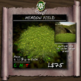 ** Meadow Field (boxed) - Low LI multi-face mesh landscape component - Ground cover - Short grass w/ yellow flowers