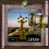 ** Elven Garden Lamp (boxed) - Low land impact multi-face mesh post lamp design - flowers with testure changing menu