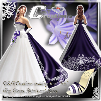 Second Life Marketplace G T Wedding Gown Isis Purple