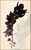 *LODE* Head Accessory - Orchkakis [black maroon]