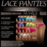 ~JJ~ Lace Panties (FATpack)