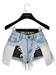 .:villena:. - Distressed Shorts - Light Blue