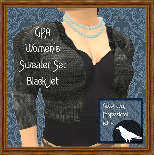 GPA Women's Sweater Set - Black Jet