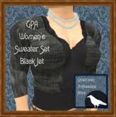 GPA Women's Sweater Set - Black Jet