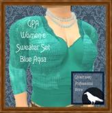 GPA Women's Sweater Set - Blue Aqua