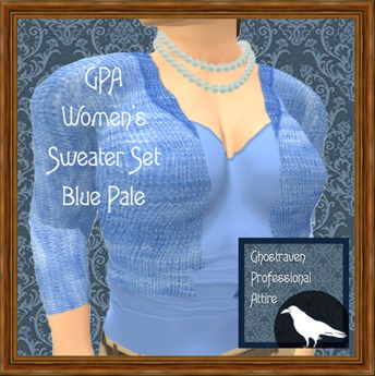 GPA Women's Sweater Set - Blue Pale (ADD & touch to unpack)