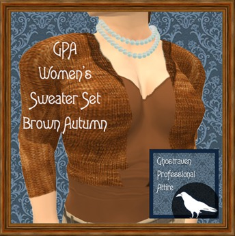 GPA Women's Sweater Set - Brown Autumn (ADD & touch to unpack)