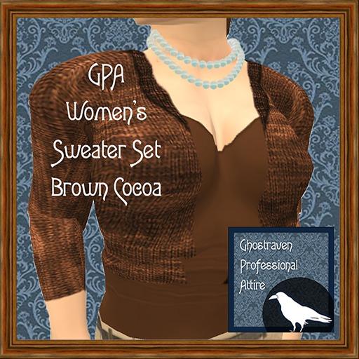 GPA Women's Sweater Set - Brown Cocoa