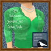 GPA Women's Sweater Set - Green Apple