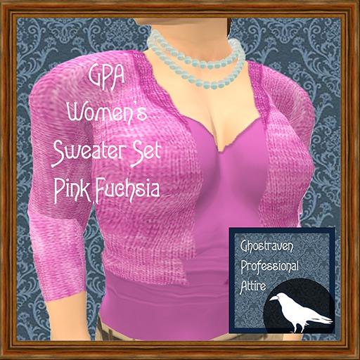 GPA Women's Sweater Set - Pink Fuchsia