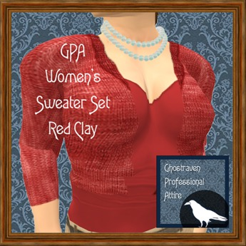 GPA Women's Sweater Set - Red Clay (ADD & touch to unpack)